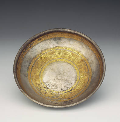Tendrils Drawing - Bowl With Tendril Frieze Unknown Eastern Hellenistic Empire by Litz Collection