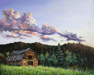 Painting - Box Prairie Barn by Craig T Burgwardt