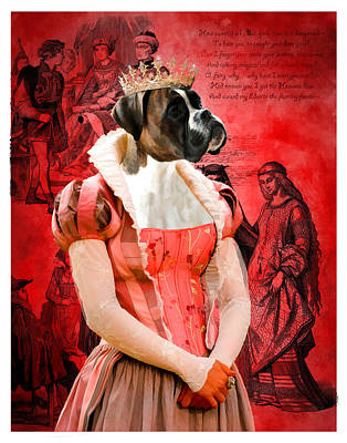 Dog Poster Painting - Boxer Art Canvas Print by Sandra Sij