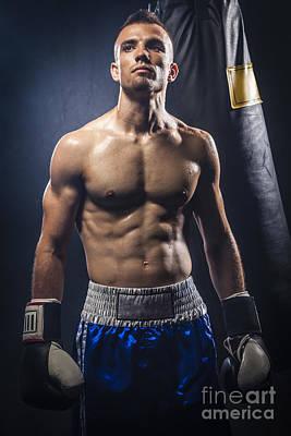 Boxer Art Print by Juan Silva