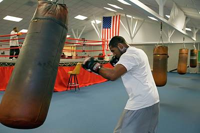 Athlete Photograph - Boxer Training by Jim West