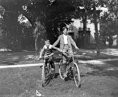 Photograph - Boys And Bikes by William Haggart