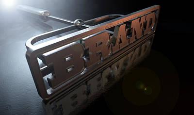 Labelled Digital Art - Branding Brand Concept by Allan Swart