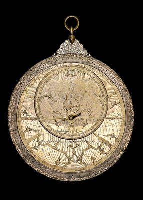 Saladin Photograph - Brass Astrolabe by Museum Of The History Of Science/oxford University Images
