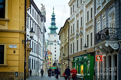 Photograph - Bratislava - Michaels Gate by Les Palenik