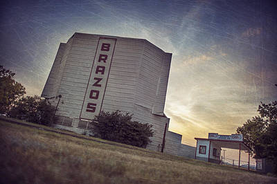 Family Night Out Photograph - Brazos Drive In Theater by Pair of Spades