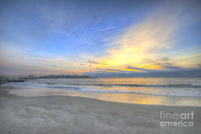 Mellow Yellow - Breach Inlet Sunrise by Dale Powell
