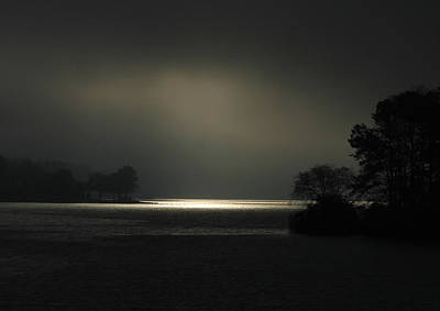 Photograph - Sunrise Trying To Break Out Lake Oconee by Reid Callaway