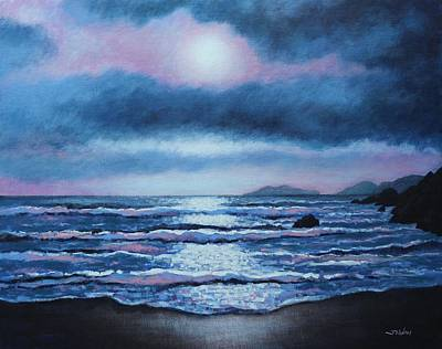 Breaking Waves Coumeenole Beach Original by John  Nolan