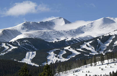 Skiing Photograph - Breckenridge Resort Colorado by Brendan Reals
