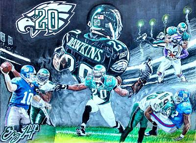 Brian Dawkins Original by Ezra Strayer
