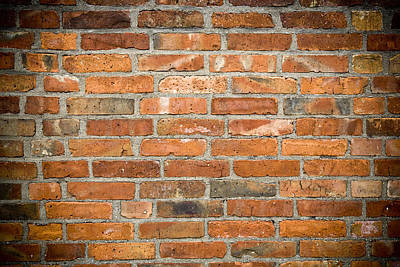 Urban Art Photograph - Brick Wall by Frank Tschakert