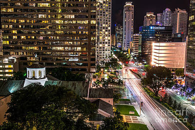 Miami Skyline Photograph - Brickell Ave Downtown Miami  by Michael Moriarty