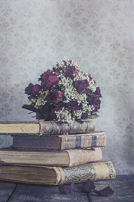 Library Photograph - Bridal Bouquet by Joana Kruse