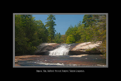 Photograph - Bridal Veil Falls North Carolina by Charles Beeler
