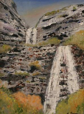 Painting - Bridal Veil Falls by W William Brown Jr