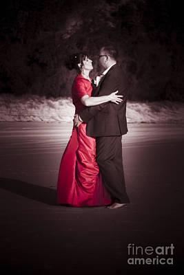 Bride And Groom Dancing Art Print