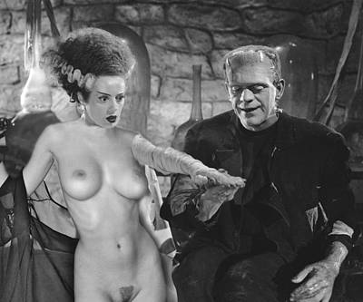 Nude Photograph - Bride Of Frankenstein Nude Fantasy by Jorge Fernandez