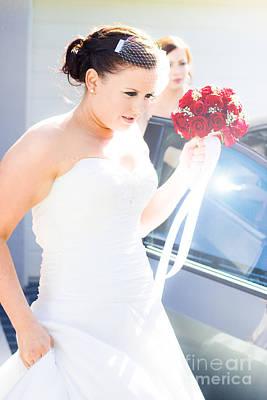 Bride Running Fashionably Late Art Print