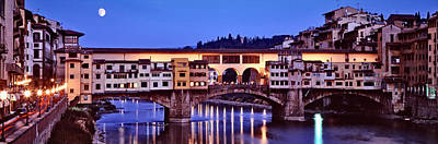 Bridge Across A River, Arno River Art Print by Panoramic Images