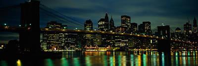 Bridge Across A River, Brooklyn Bridge Art Print