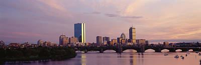 Charles River Photograph - Bridge Across A River With City by Panoramic Images