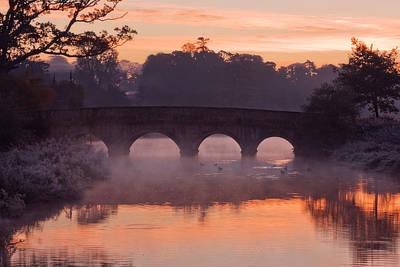 Photograph - Bridge At Dawn / Ireland by Barry O Carroll