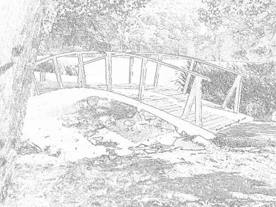 Digital Art - Bridge At Peaks Of Otter by Angelia Hodges Clay