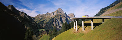 Bridge On Mountains, Mountain Pass Art Print by Panoramic Images