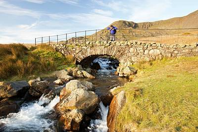 Bridge On The Walna Scar Track Art Print by Ashley Cooper