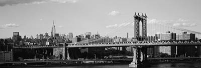 White River Scene Photograph - Bridge Over A River, Manhattan Bridge by Panoramic Images