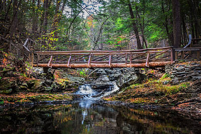 Photograph - Bridge Over Placid Waters Painted  by Rich Franco