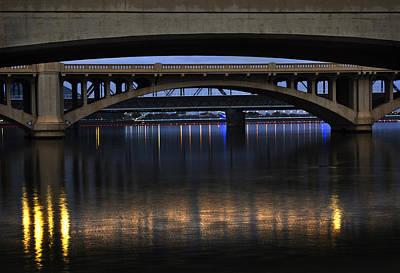 Blue Photograph - Bridge Reflections by Dave Dilli