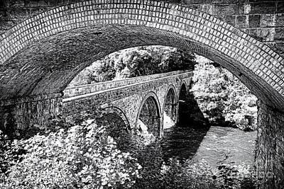 White River Scene Photograph - Bridge Under A Bridge by Jane Rix