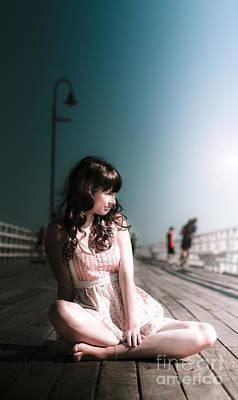 Escape Photograph - Bridge Woman by Jorgo Photography - Wall Art Gallery