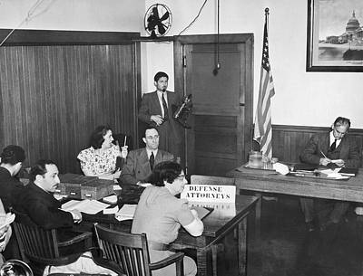 Fathers Office Photograph - Bridges Deportation Hearing by Underwood Archives