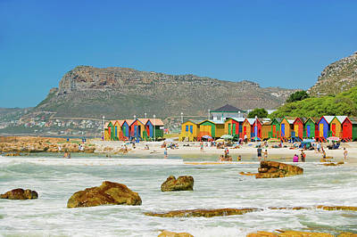 Attitude Photograph - Bright Crayon-colored Beach Huts At St by Panoramic Images