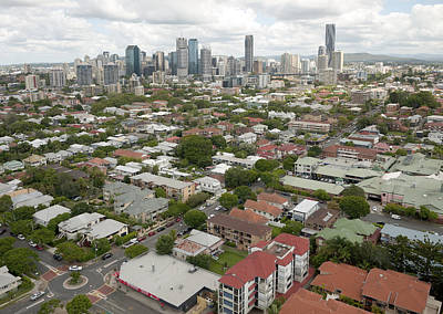 Photograph - Brisbane Skyline From New Farm Park by Rob Huntley