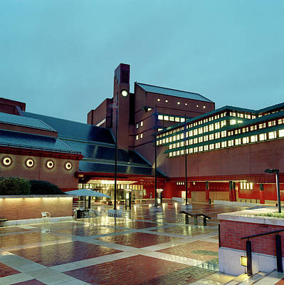 British Library Piazza Art Print by British Library