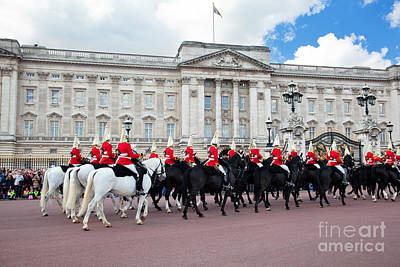 Form Photograph - British Royal Guards Perform The Changing Of The Guard In Buckingham Palace by Michal Bednarek
