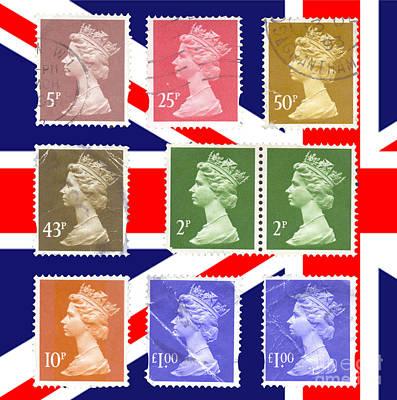 British Stamps  Art Print by Ilan Rosen
