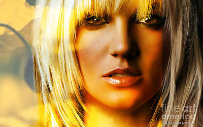 Poster Mixed Media - Britney Spears by Marvin Blaine