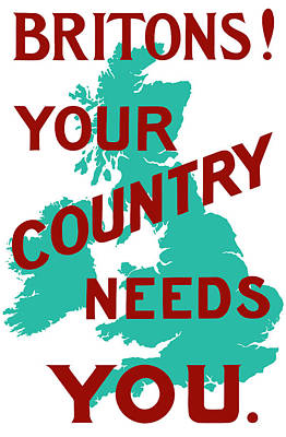 British Mixed Media - Britons Your Country Needs You by War Is Hell Store