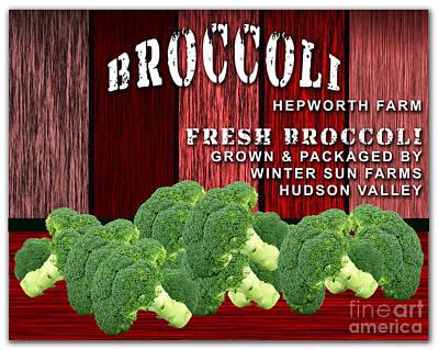 Broccoli Farm Print by Marvin Blaine
