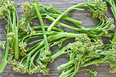 Stir Photograph - Broccoli Stems by Tom Gowanlock