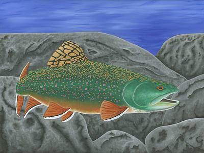 Brook Trout Painting - Brook Trout by Ralph Martens