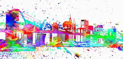 New York City Skyline Mixed Media - Brooklyn Bridge  by Daniel Janda