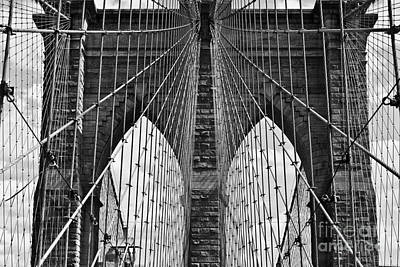 Brooklyn Bridge Art Print by Peter Dang