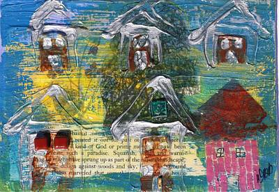 Mixed Media - Brown House No 3 by Dawn Boswell Burke
