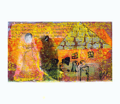 Mixed Media - Brown House No 4 by Dawn Boswell Burke